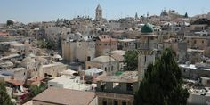 View of Jerusalem from the roof of Austrian Hospice