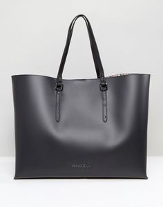 Armani Jeans Large East West Tote Bag in Black Μαύρα Τζιν ca9b25c55aa