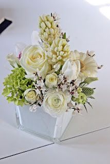 fresh white&green flower