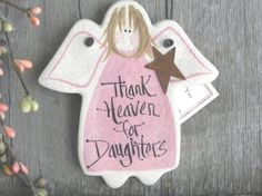 Pink Daughter Gift Salt Dough Angel by cookiedoughcreations, $6.95 https://www.etsy.com/listing/177655702/pink-daughter-gift-salt-dough-angel?ref=shop_home_active_4#