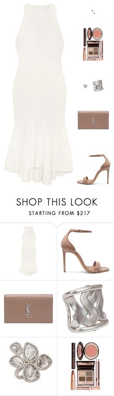 """""""Untitled #5106"""" by mdmsb ❤ liked on Polyvore featuring Rebecca Vallance, Yves Saint Laurent, Meira T and Charlotte Tilbury"""