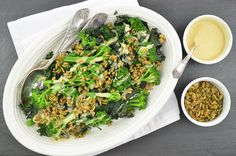 In this healthy vegan salad, winter greens are invigorated by earthy tahini dressing and a crunchy layer of toasted seeds