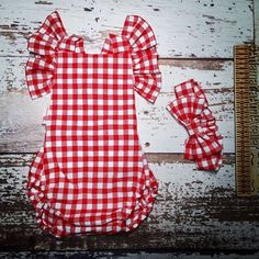 White Plaid, Red And White, Girls Rompers, Playsuit, Toddler Girl, Boys, Etsy Shop, Outfits, Check