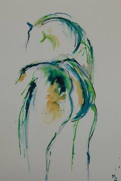 """Pen and Ink on paper - Saatchi Art Artist Marie Ackers; Drawing, """"Horse I"""" … Horse Drawings, Animal Drawings, Art Drawings, Watercolor Horse, Watercolor Painting, Watercolor Trees, Watercolor Artists, Watercolor Tattoo, Horse Sketch"""
