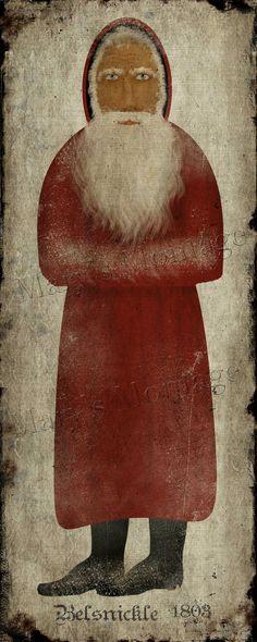 Primitive Folk Art Belsnickle print by MarysMontage ...