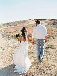 Photography : Cassidy Carson | Wedding Dress : Johanna Johnson Read More on SMP: http://www.stylemepretty.com/2016/01/08/california-cliffside-elopement-inspiration/