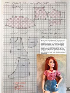 doll dress patterns Fashion Dolls Couture - Unlimited: Country Rock - Made to Move Barbie -CURVY- Fashion Dolls Couture - Unlimited: Country Rock - Made to Move Barbie Sewing Barbie Clothes, Barbie Sewing Patterns, Doll Dress Patterns, Sewing Dolls, Ag Dolls, Girl Dolls, Barbie Fashionista, Barbie Und Ken, Made To Move Barbie