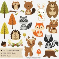 Woodland clipart mignon animal woodland woodland crche bb douche fournitures dcoration fte woodland clipart renard mignon bb ours Woodland Party, Woodland Nursery, Fox Nursery, Forest Nursery, Clipart Baby, Cute Clipart, Cute Animal Clipart, Forest Animals, Woodland Animals