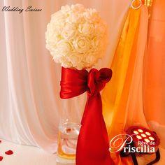Boule de rose - Vase cylindrique Decoration, Wedding, Cylinder Vase, Decor, Valentines Day Weddings, Decorations, Decorating, Weddings, Marriage