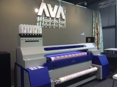 World-wide textile software specialists AVA CAD CAM showing their Digital Print Design & Colour Solutions working with the MTEX Blue pigment printers at Heimtextil 2016 Blue Pigment, Cad Cam, Cam Show, Milling, Surface Pattern Design, Printers, Textures Patterns, Ava, Digital Prints