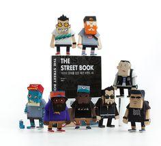 Paper-models. 1984 x MOMOT by momot , via Behance Miraculous, Origami, Geek Toys, Quirky Art, Paper Artwork, Paper Toys, 3d Paper, Conceptual Design, Vinyl Toys