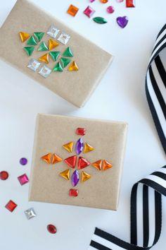 rhinestone gift wrap ideas | gift wrapping | cute gift wrap