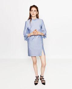 6be09074 Image 1 of FLOUNCE SLEEVE DRESS from Zara Zara, Bomber Jacket, Rust, Latest