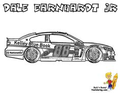 nascar coloring for kids dale jr car - Nascar Coloring Pages