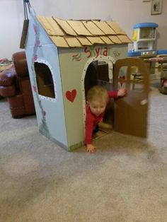 Cardboard house for skylar xx
