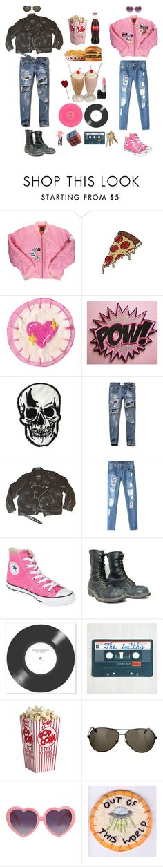 """""""80's Teen Flick"""" by queenstormrider ❤ liked on Polyvore featuring Hot Topic, Abercrombie & Fitch, Chicnova Fashion, Converse and Tom Ford"""