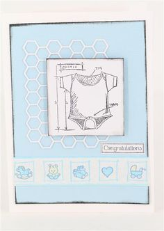 Greeting card for baby shower tim holtz baby blueprints stamps materials tim holtz baby blueprint stamp baby pink satin seam binding tiny flower button just a little greeting stamp ma malvernweather Images