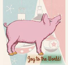 Holiday Pig | by China Rose