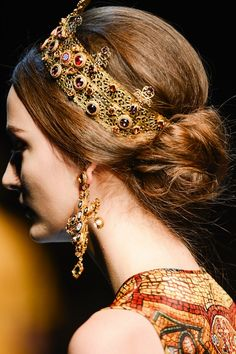 """Byzantine Mosaic"" - Dolce & Gabbana, A/W 2014"