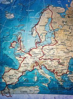 They wanted to show their son the world - so they made the .- Sie wollten ihrem Sohn die Welt zeigen – also machten sie den Roadtrip ihres Lebens They wanted to show their son the world – so they made the road trip of their lives - Travel Around Europe, Travel Around The World, Travel Route, Places To Travel, Astuces Camping-car, Roadtrip Europa, Voyage Quotes, Road Trip, Reisen In Europa