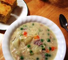 Turkey Potato Soup « Karen's Recipes - Karen's Note: Try using left-over turkey from Frank's Smoked Turkey recipe to make this Turkey Potato Soup - it tastes so delicious! Serve with whole wheat crackers or Yellow Corn Cake on the side…enjoy! :)