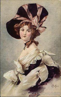 Waiting - Woman Victorian Attire Women
