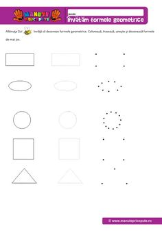 Invatam sa desenam forme geometrice