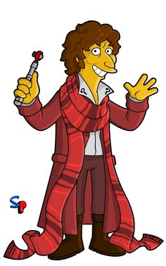 Springfield Punx: Doctor Who Fantasy Shows, 4th Doctor, Simpsons Characters, Classic Doctor Who, Doctor Who Fan Art, Best Doctors, Christopher Eccleston, Dalek, Bad Wolf