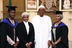 YOU WON'T HAVE MUCH TO INHERIT FROM ME, ACQUIRE ENOUGH EDUCATION AND THEN WORK HARD TO BE SELF-RELIANT – PRESIDENT BUHARI TELLS CHILDREN