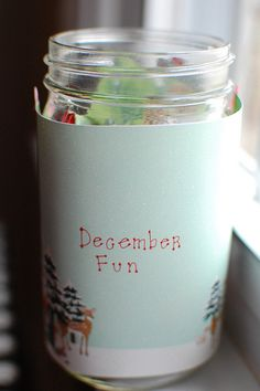 DIY December fun jar - list of 50 things to do with kids in December