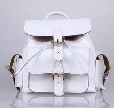 White Leather Bag backpacks