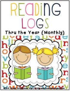 Reading Logs Thru the Year {Monthly} by First Grade Schoolhouse. First, Second, and Third Grade. $ Use with holiday/seasonal thematic units, homework, or class reading. 72 logs in all.