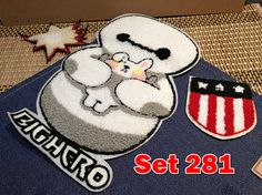 Big Hero Retro Vintage Embroidery Patches Towel Patches Sew
