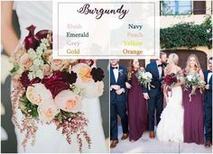 Burgundy wedding color ideas