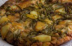 Omelette aux asperges sauvages et aux pommes de terre WW, un bon plat composé de oeufs, pomme de terre, asperges sauvages et parmesan, facile et simple à réaliser pour un repas léger et express du soir.