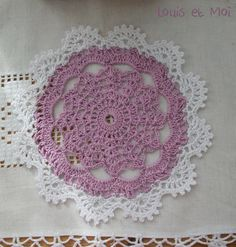 Louis et Moi (sew and crochet made): Another installment of crocheted doilies (or doily, which is like the coolest) Crochet Doily Patterns, Crochet Mandala, Crochet Diagram, Crochet Chart, Thread Crochet, Filet Crochet, Crochet Motif, Crochet Doilies, Crochet Stitches