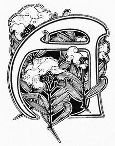 Lettrine Art Nouveau. http://jpdubs.hautetfort.com/archive/2006/10/16/la-lettrine-a-travers-l-histoire1.html