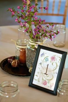 fresh flowers with simple, inexpensive centerpieces