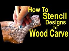 Learn How to Stencil Wood Carving Power Carving Engraving Wood Carving Designs, Wood Carving Patterns, Stencil Designs, Dremel Projects, Easy Woodworking Projects, Diy Wood Projects, Wood Crafts, Stencil Wood, Stencils