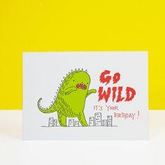 Go Wild Greeting Card   Ohh Deer