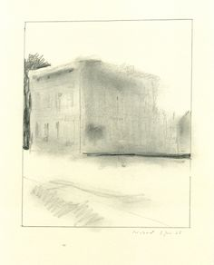 Gerhard Richter  Hotel or Hutter House 1965  29.5 cm x 23.5 cm  Graphite on paper
