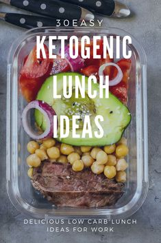 Keto Diet Recipes 30 low carb keto lunch recipes perfect for work, home or on the go! If you're new to the ketogenic diet or if you are looking for delicious keto recipes to add to your weekly meal plan you'll love this collection of easy recipes! From easy crockpot keto recipes to vegetarian and dairy-free options-this meal plan has you covered! #keto #ketogenic #ketodiet #ketorecipes #ketogenicdiet #lowcarbrecipes #fitness #loseweightfastandeasy