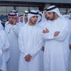 Zayed bin Maktoum bin Rashid Al Maktoum y Ahmed  bin Mohammed bin Rashid Al Maktoum, DWC, 28/03/2015. Vía: zayedbinmaktoum