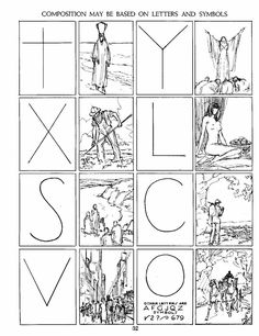 Using letters and symbols for composition. ;)