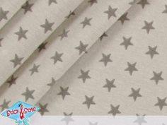 Jersey Little Stars - beige / taupe – Sterne