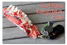 Sugar Bee Crafts: Ruffled Keychain Fabric Key Fob#_a5y_p=1167697#_a5y_p=1167697#_a5y_p=1167697
