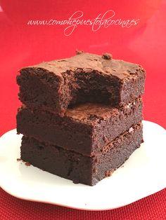 receta-brownie Cold Desserts, No Bake Desserts, Delicious Desserts, Dessert Recipes, No Bake Brownies, No Bake Cake, Chocolate Thermomix, Chocolate Bowls, Just Cakes