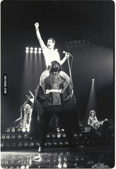 You may be cool, but you'll never be Freddie Mercury on Darth Vader's shoulders cool