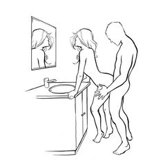 Sex positions in bathroom think