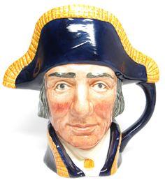 """Large Royal Doulton Character Jug  """" Lord Nelson """" D6336 Toby Mug"""